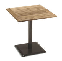 contemporary garden pedestal table ECHO : ART. 982 TEAK PARK LINE