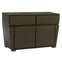 contemporary garden sideboard in resin wicker FUSION BROWN JORDAN