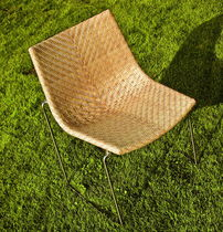 contemporary garden sled base chair CHYLIUM 2 by Tito Agnoli Bonacina Pierantonio
