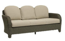 contemporary garden sofa in resin wicker SUMMIT BROWN JORDAN