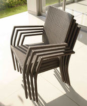 contemporary garden stacking chair MARRIOT SKY LINE DESIGN
