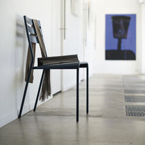 contemporary garden stacking chair (metal) FACTO by Patrick Jouin FERMOB