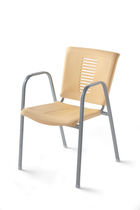 contemporary garden stacking chair with armrests 223 STAR srl