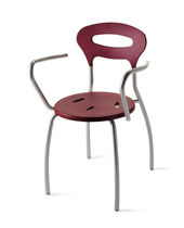 contemporary garden stacking chair with armrests 334 STAR srl