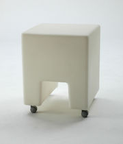 contemporary garden stool with casters PANKOTTO & PUFFOTTO by B.Rainaldi Sintesi