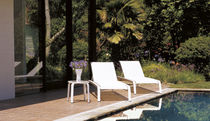 contemporary garden sun lounger SIROCCO BROWN JORDAN