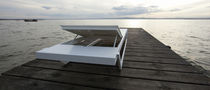 contemporary garden sun lounger (stacking) EVO by Victor Barbera &amp; Axthor Axthor Outdoor Furniture