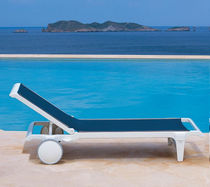 contemporary garden sun lounger with casters ELYS&Eacute;E TRICONFORT