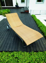 contemporary garden sun lounger with casters FLEXAL by Tito Agnoli Bonacina Pierantonio