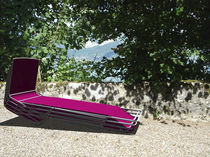 contemporary garden sun lounger (100% recyclable) AUTOUR DU LAC AAVRA