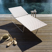 contemporary garden sun lounger (adjustable backrest) SOMBRA by Lievore Altherr Molina Andreu World