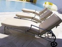 contemporary garden sun lounger with casters CONSTANTIAN MENEGHINI