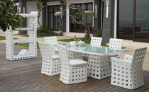 contemporary garden table JAMAICA SKY LINE DESIGN
