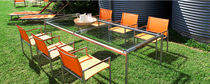 contemporary garden table (glass top) BREEZE Harbour Outdoor