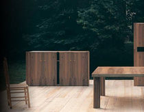 contemporary garden wooden sideboard SCUDERIA by Carlo Scarpa Bernini