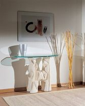 contemporary glass and stone sideboard table MAGELLANO by Gualtiero Molesini stonebreakers