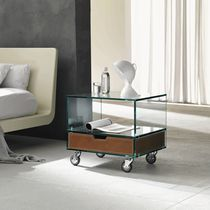 contemporary glass bed-side table GRATTACIELO by Marco Gaudenzi TONELLI Design
