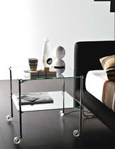 contemporary glass bed-side table by Bruno Munari BIPLANO Robots