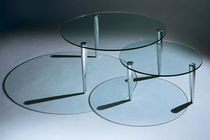 contemporary glass coffee table SCISSOR  by Barry Davison DAVISON HIGHLEY
