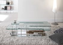 contemporary glass coffee table PLAYTIME by G.T. Garattoni TONELLI Design