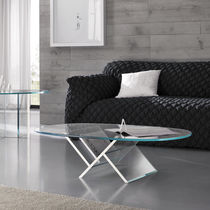contemporary glass coffee table VEER by Karim Rashid TONELLI Design