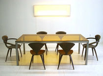 contemporary glass dining table T-101 by Jose Pascual Boxx Furniture