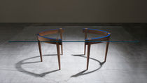 contemporary glass dining table THE ROUND TABLE by Ron Gilad  Adele-C