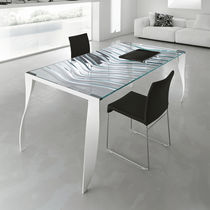 contemporary glass dining table LUZ DE LUNA by Giovanni T.Garattoni TONELLI Design