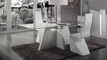 contemporary glass dining table CRETA Idealsedia