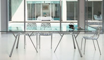 contemporary glass dining table RADICE QUADRA by Robby &amp; Francesca Cantarutti FAST SPA