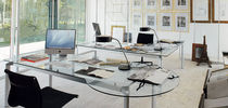 contemporary glass office desk WORKY ALBED