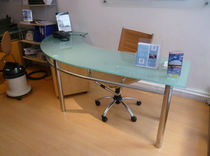 contemporary glass office desk  Formadour