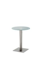 contemporary glass pedestal side table 972 STAR srl