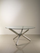 contemporary glass round table VERVE by Giulio Manzoni ENRICO PELLIZZONI