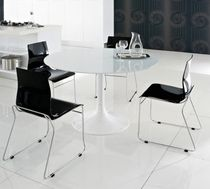 contemporary glass round table CORONA by Domitalia Domitalia