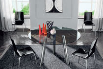 contemporary glass round table CONVIVIO Mobilificio Florida