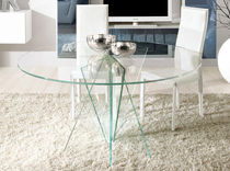 contemporary glass round table STELLA unico italia