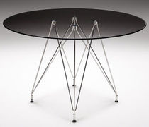 contemporary glass round table WEIGHTLESS  Haldane Martin