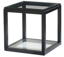 contemporary glass side table SQUARE FIRST TIME