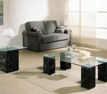 contemporary glass side table ASSUAN LAVAMAR