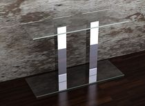 contemporary glass sideboard table MYRA Swanky Design - Premium Contemporary Furniture