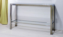 contemporary glass sideboard table  pure inox