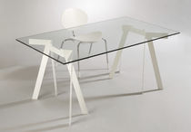 contemporary glass table LE BOCK by Rupert Kopp Elmar Fl&ouml;totto