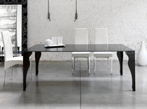 contemporary glass table EPOCA unico italia