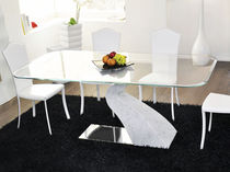 contemporary glass table SINTONIA: TAV043 unico italia