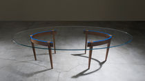 contemporary glass table THE ROUND TABLE by Ron Gilad  Adele-C