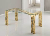 contemporary glass table OXYGOLD ZETA by KAPDesign KAP International