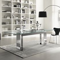 contemporary glass table MILES by Giulio Mancini TONELLI Design