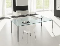 contemporary glass table STRATOS MONO by Denis Santachiara TONELLI Design