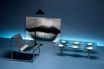 contemporary glass coffee table KNOX by Ron Arad FIAM ITALIA